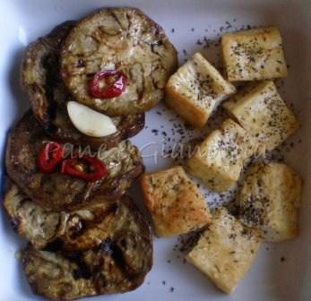 Antipasto vegetariano con tofu alla piastra