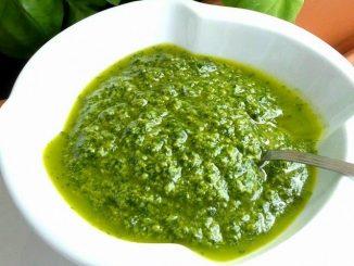 Pesto al basilico senza aglio