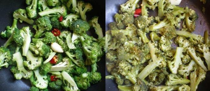 Spaghetti con crema di broccoli