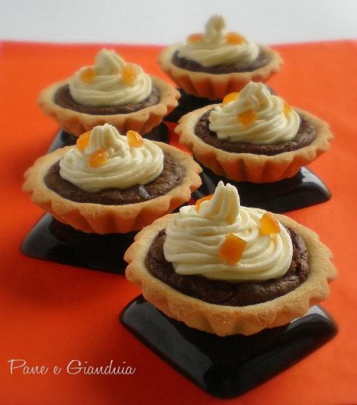 Crostatine con nutella e arancia candita