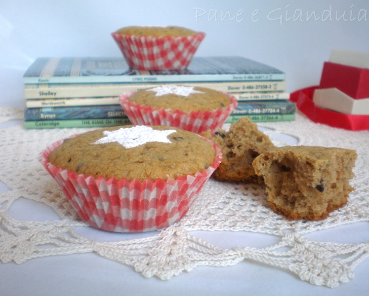 Muffin con farina di castagne e gocce di cioccolato