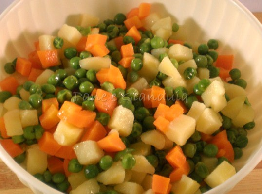 verdure per insalata russa