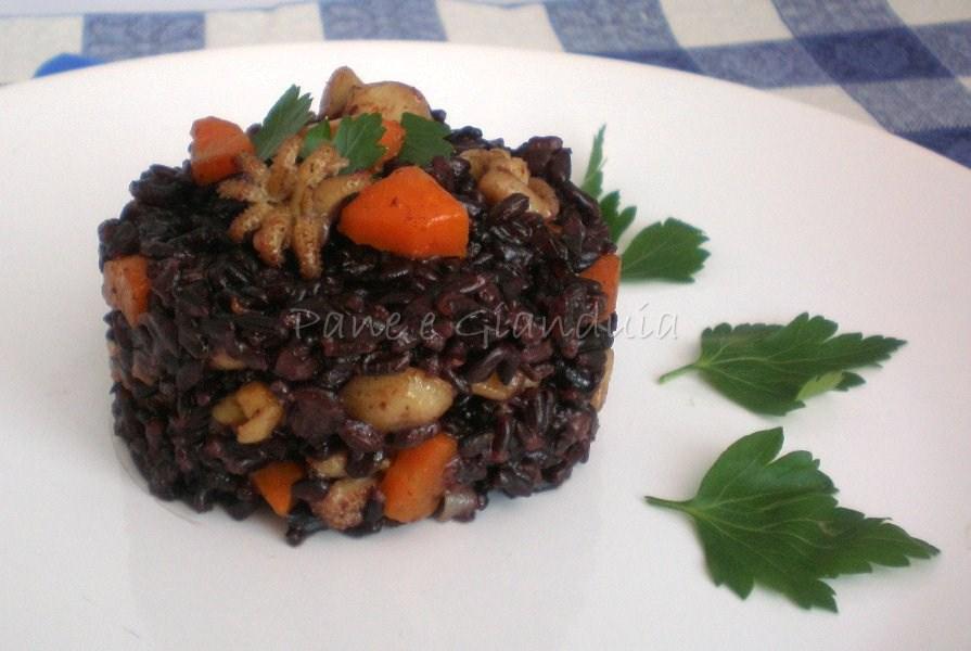 riso venere seppie e carote