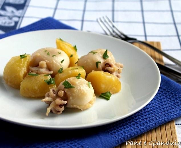 seppioline e patate in umido