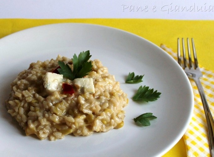 risotto ai porri e gorgonzola