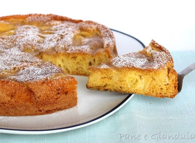 Torta di mele con crema toffee