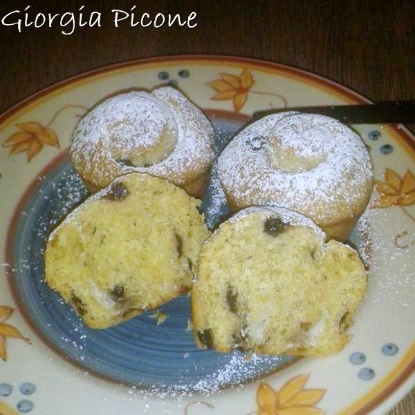 Giorgia Picone - Brioche al cocco e mirtilli