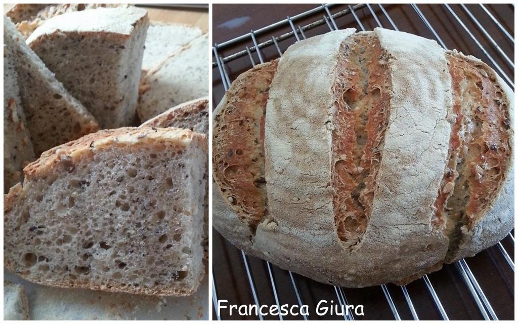 Pane con farina 2 e semi misti