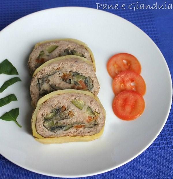 rotolo di carne trita e verdure