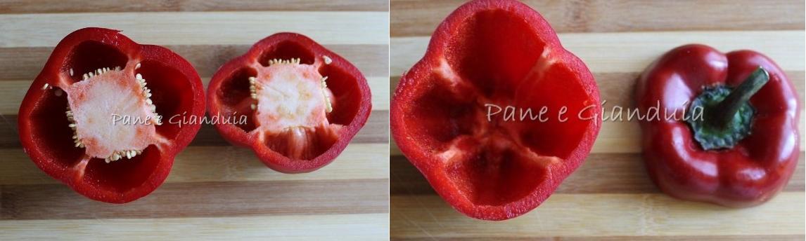 Taglio peperoni