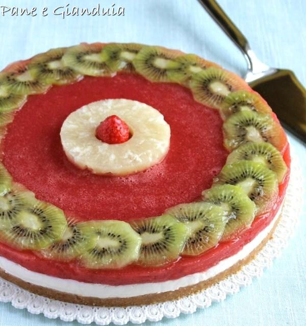 Cheescake con frutta fresca