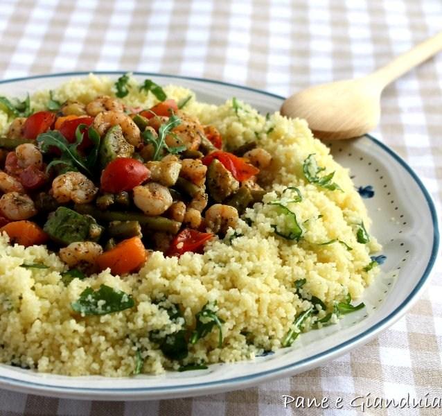 Cous cous con gamberetti e verdure