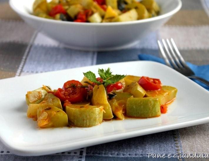 zucchine trombetta in umido