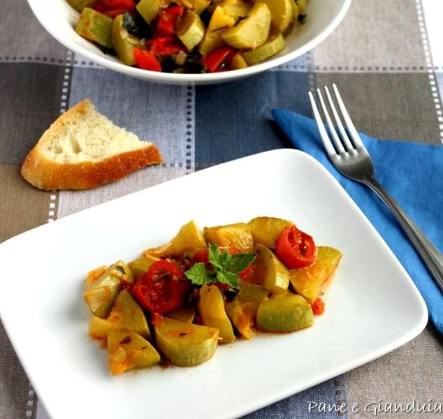 Ricetta Zucchine Trombetta.Zucchine Trombetta In Umido Pane E Gianduia Blog