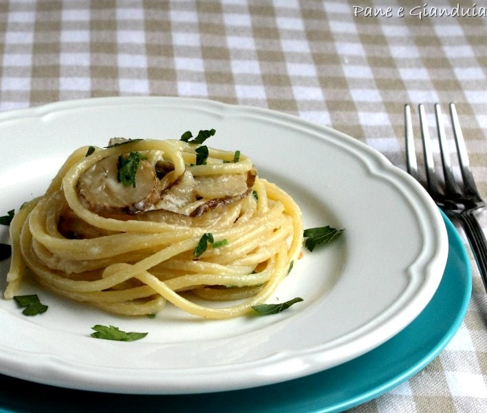 Spaghetti con topinambour