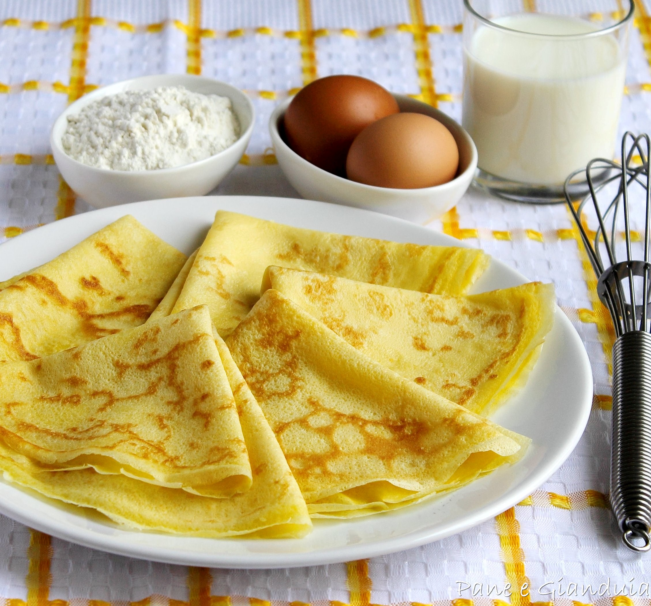 Crepes dolci e salate, impasto base