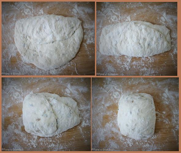 Pieghe a tre pane con semi di zucca