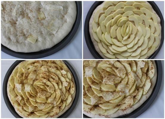 Formatura pizza con mele