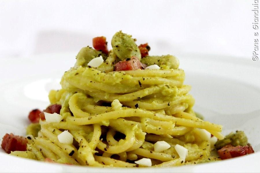 Spaghetti e fave