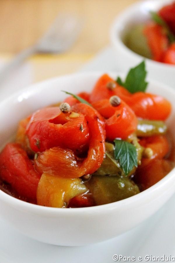 Peperoni arrostiti in padella