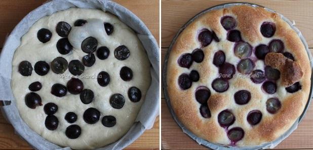 Ricetta schiacciata con l'uva