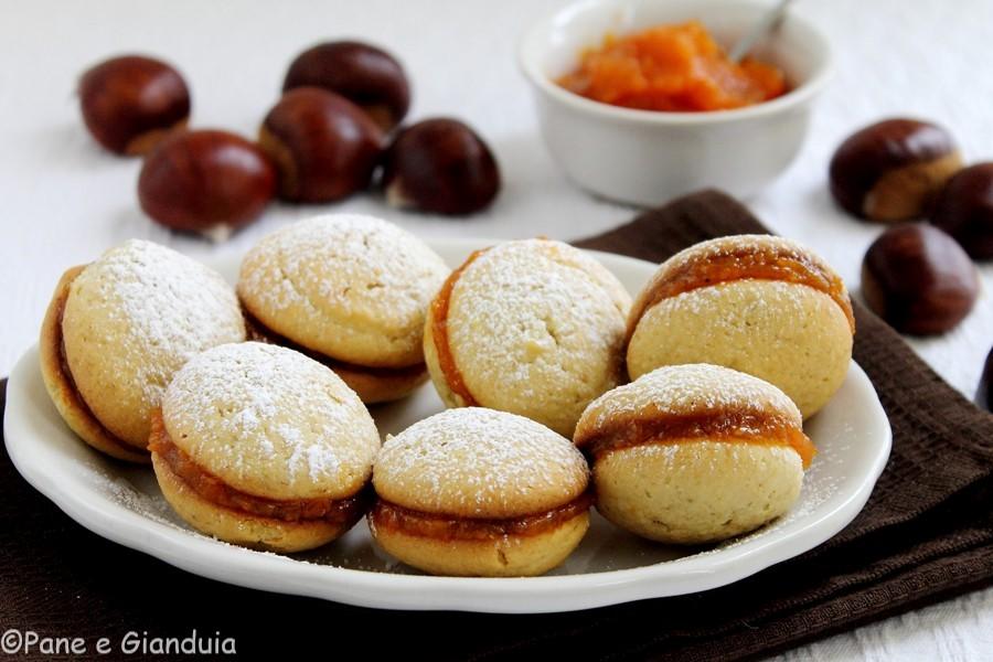 Biscotti ai marroni con marmellata di zucca