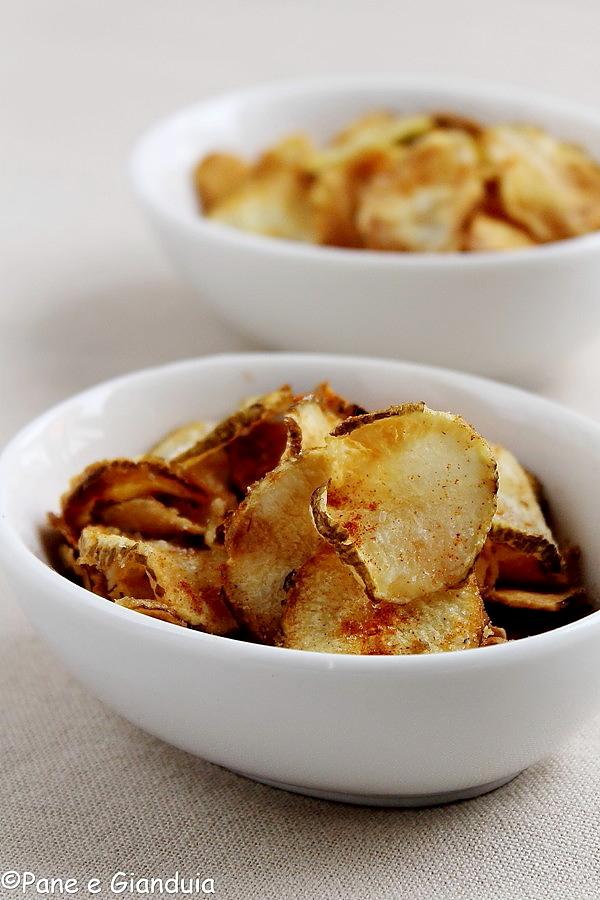 Chips speziate di topinambour