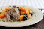 Involtini di coppa alle prugne con olive e zucca