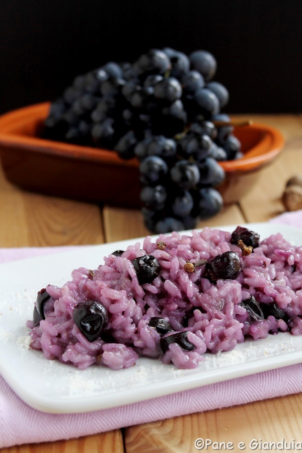 Risotto all'uva Barbera