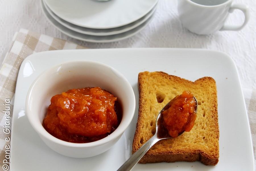 marmellata di zucca con cannelal e cardamomo