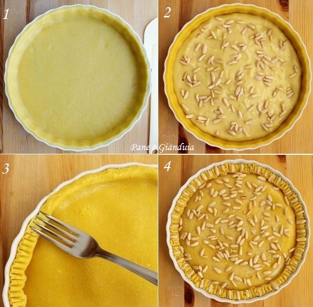 Ricetta torta della nonna alla crema crostata crema e pinoli crostata crema al limone