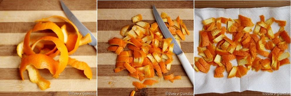 Essicare scorze di arancia