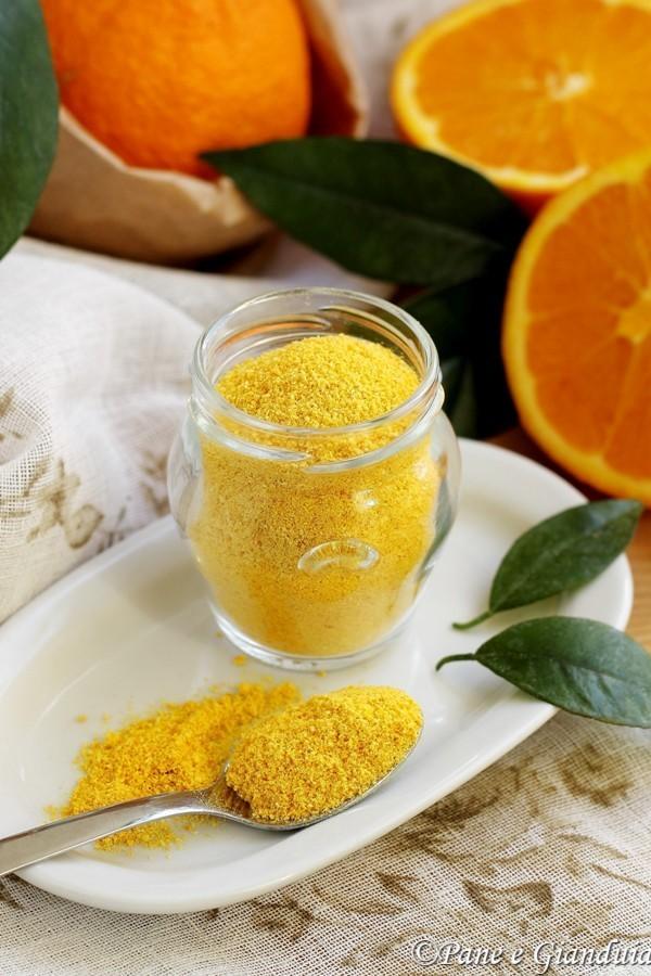 Scorza di arance in polvere