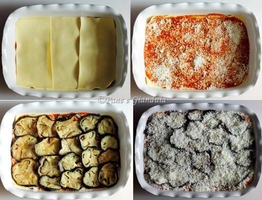 Ricetta lasagne al forno con melanzane pane e gianduia