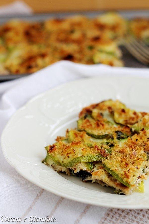 Tortino con alici e zucchine