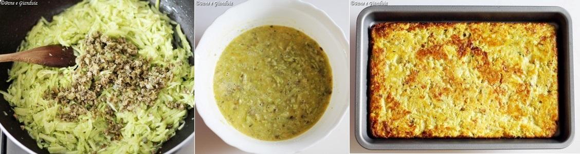 Finta frittata di zucchine trombetta