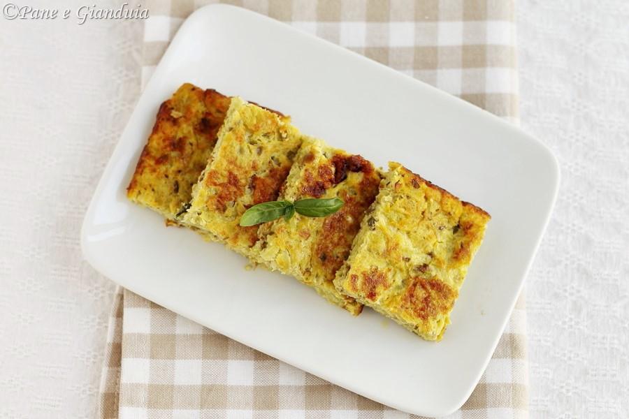 Frittata al forno con zucchine trombetta