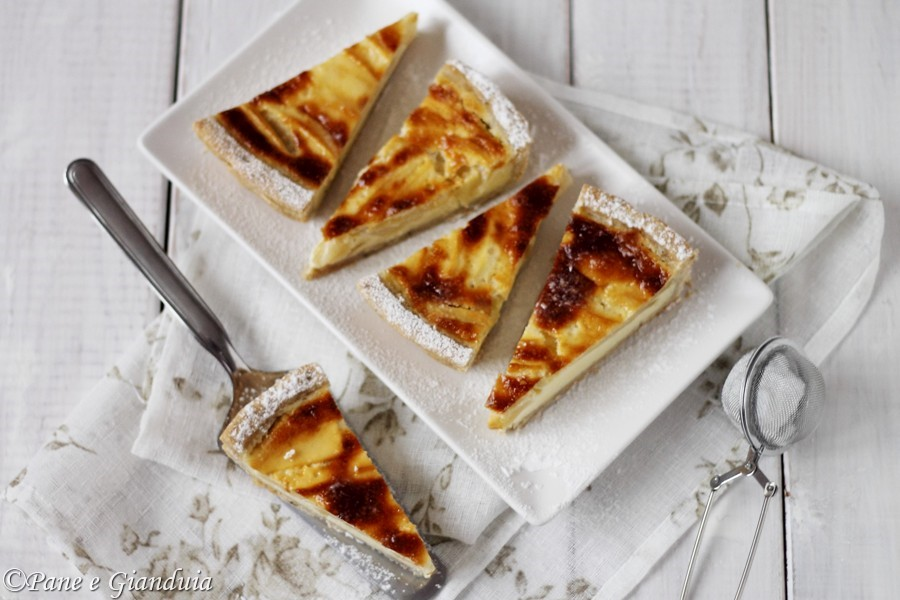 Crostata di mele con mascarpone