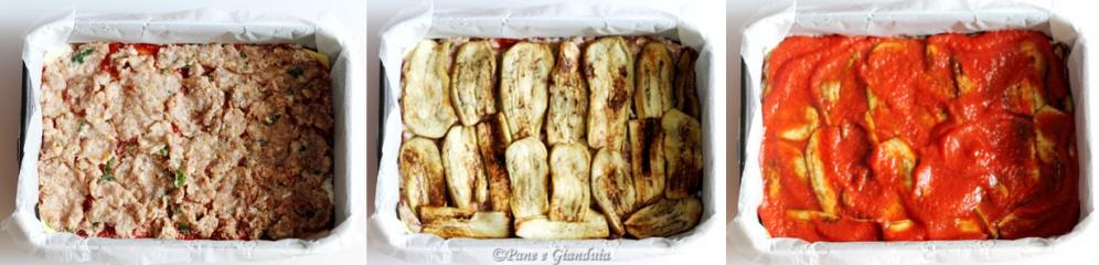 timballo di lasagne trita e melanzane