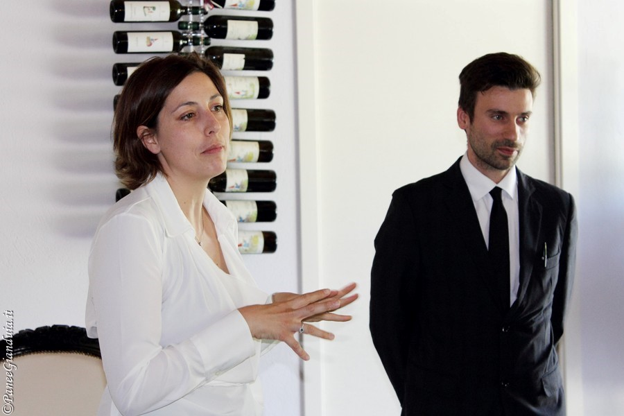 Sara Vezza e il Sommelier del Matteo Morra Restaurant