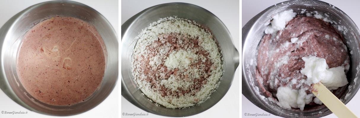 Ricetta ciambellone al cocco con more e cioccolato