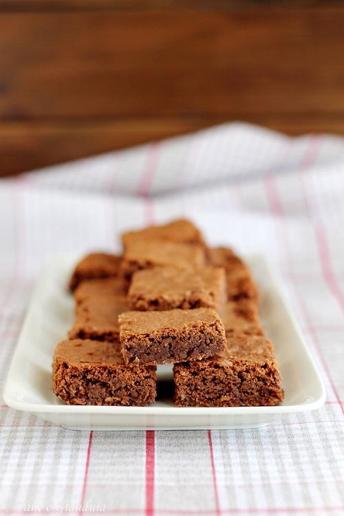 Brownies cocco e cioccolato fondente