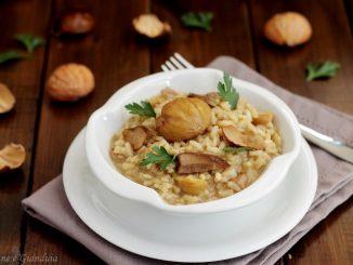 Risotto con funghi porcini e castagne