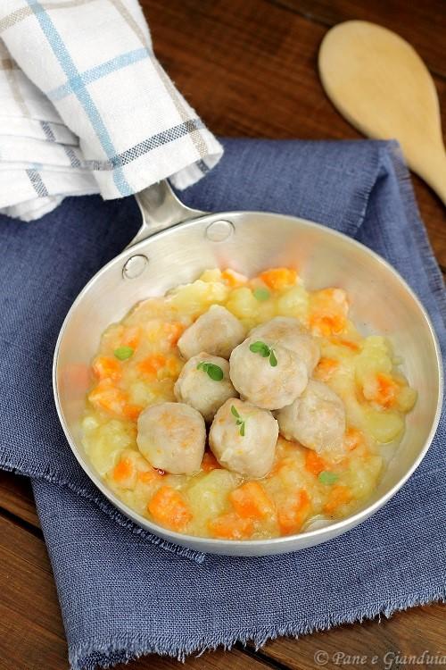 Polpette di carne zucca e salsa di verdure