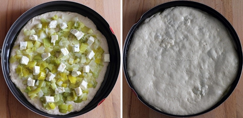 Ricetta Focaccia ripiena con porri e gorgonzola