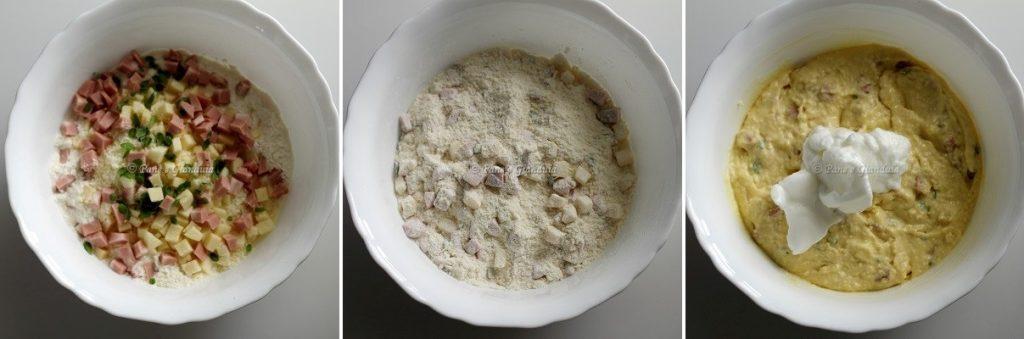 Ricetta Plumcake salato con formaggi e mortadella