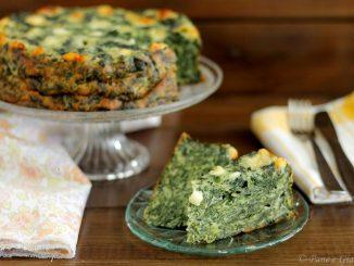 Torta valdostana con spinaci e toma