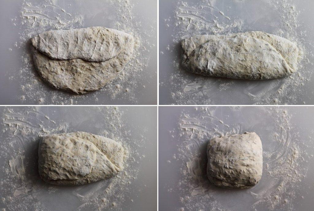 pieghe Pane con semi di finocchio