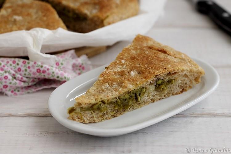 Focaccia integrale asparagi e parmigiano