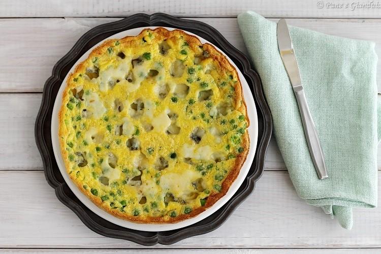 Frittata al forno con piselli e gorgonzola